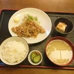 大むら - 生姜焼き定食730円