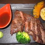 Bar&Cafe 炭火焼 ドン・ガバチョ - プレミアムコース(和牛サーロインステーキ)