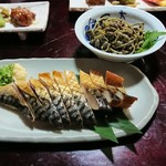 田や - サバ燻製&山菜