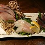 木村屋本店 - 鮮魚3点盛り
