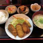 寿味 - 2018.2.6  ミックスフライ定食