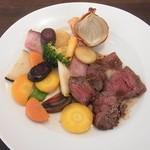 ビストロ天下井 - ランチ 牛ハラミステーキ