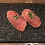 あっけし - いけだ牛握り(シンシン) ¥320、仙台牛握り(カメノコ) ¥290