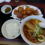 中華食堂 味鮮 - 唐揚げ特盛り定食@1000