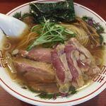 麺処ほん田 - 雉(きじ)と地鶏の醤油そば@1,000円 +雉の胸肉のたたき@500円