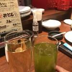 81843206 - 樽生スパークリングワインと静岡ハイ。