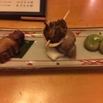 いちふく - 前菜(つぶ、蛸、そら豆)