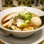 むぎとオリーブ - 鶏・煮干し・蛤のトリプルSOBA