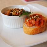 81850179 - 蕎麦の実入りカポナータ&トマトのブルスケッタ