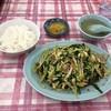 王府 - 料理写真:ニラブタとライス中