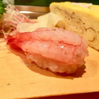 鮨芳 - 料理写真:[2018/03]寿司③ どろえびの握り