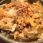 寛酔 - 甲州地鶏親子丼(ふわとろ玉子)アップ
