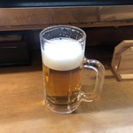 どて焼 - 生ビール