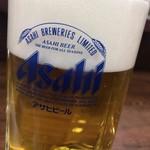 鳥万 - 生ビール