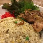 龍王 - 豚焼肉の炒飯丼 大盛り アップ