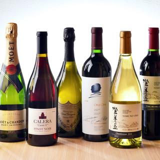 ワイン20種・姫路地酒を始め日本酒6種!