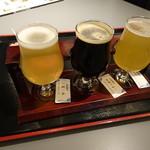 京都タワー サンド バル - 同行者が注文した利き酒
