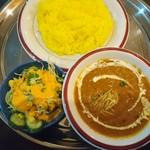 インドレストランシバ - 料理写真:ディナーセット(マトンカレー)