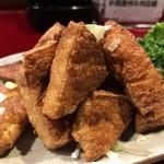 中国蘭州牛肉拉麺 王記 - 揚豆腐の鶏スープ掛け
