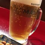 中国蘭州牛肉拉麺 王記 - 生ビール