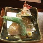 麺 銀三 - 天ぷらざるうどん大盛り
