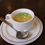 ボンベイ - トロミのあるタマゴスープ。