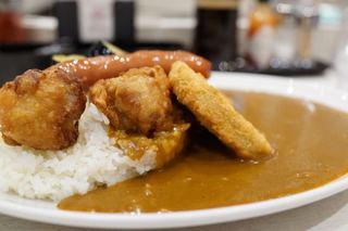 カレーハウス リオ ジョイナス店 - ミックスカレー 1150円 + 大盛 190円