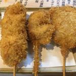 たよし - 串揚げ まぐろ¥100、たこ¥100、豚肉¥100