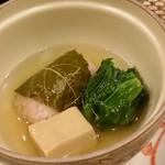 わしょくてい秀瑠 - 道明寺蒸しが美味