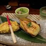わしょくてい秀瑠 - 鯖の卯の花焼きと焼き筍