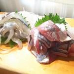 かわなみ鮨 - 細魚、鯵
