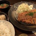 日日是耕日 - ランチのロース味噌カツ定食