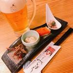 川どこべらぼう - 2018.3.3のコース料理+ヱビスビール