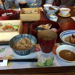 伊都安蔵里 - 豚肉の柔らか蒸し御膳 ¥1780(税込)