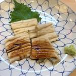 石松 阪奈店 - 穴子 レモン塩とタレ