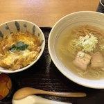 会津喜多方製麺所 - ランチセットを親子丼で(¥1100)