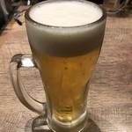 1ポンドのステーキハンバーグ タケル - 生ビール
