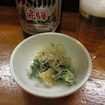 居酒屋 和田 - 瓶ビール(530円)とお通し