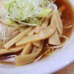 麺や壱真 - メンマはコリコリした食感