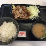 吉野家 - 料理写真:牛カルビ生姜焼定食