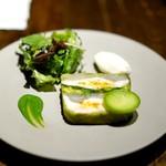 クレモンティーヌ・ビス - 花鯛のテリーヌ 菜の花のソース