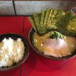 麺童虎徹 - 豚骨醤油らーめん並+バリバリ 海苔+小ライス
