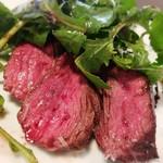 レスタミネ リュンヌ - お肉ランチ(1800円)牛ハラミステーキ+サラダ+少量パスタ+ドリンク
