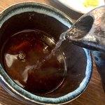 野の茶 - 〆の蕎麦湯