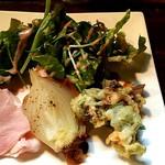 パスタピッコラ - 本日の前菜盛り合わせ♪玉葱?みたいなのがとくに美味しかったです♪