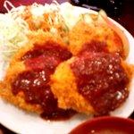 四季 - コワレケータイで撮ったフライ定食