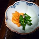 松屋旅館 - 胡瓜と人参の漬物