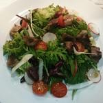 ビストロ アギャット - 砂肝とハツのコンフィ、山形県産有機野菜のサラダ仕立て