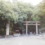 笠そば処 - 近くの大神神社