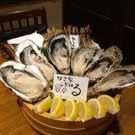 牡蠣海鮮料理 かき家 こだはる - 牡蠣3種類盛合せ